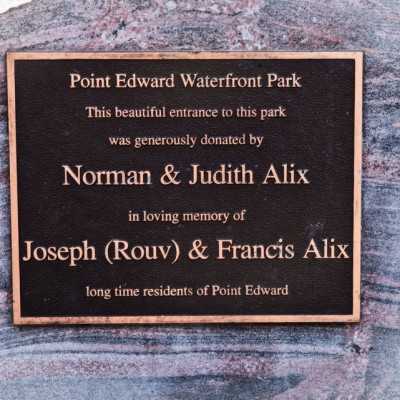 Waterfront Park Memorial Plaque