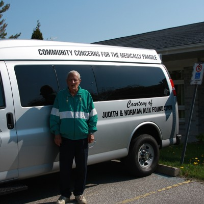 Norman Alix pictured in front of the Community Concerns for the Medically Fragile New Van